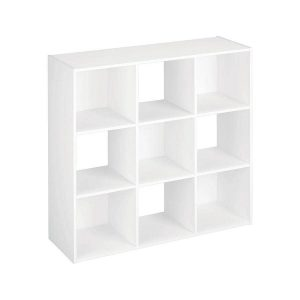 ClosetMaid 9 Compartment White Stackable Wood Laminate Cube Organizer