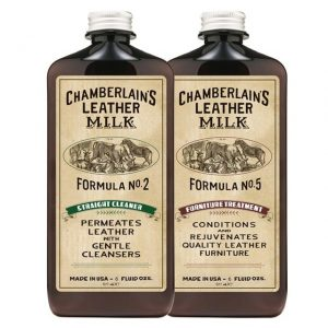 Clean & Condition Furniture Leather Care Set: No. 2 & No. 5 with 2 Applicator Pads