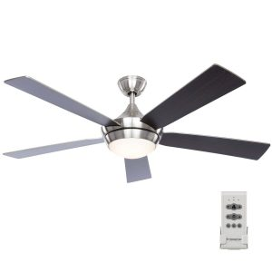 Aire Drop Brushed Nickel 52-in LED Indoor Ceiling Fan