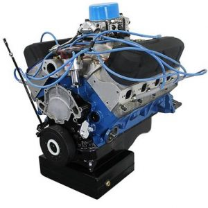 BluePrint Engines 427CI ProSeries Stroker Crate Engine   Small Block Ford Style   Dressed Longblock with Carburetor   Aluminum Heads   Roller Cam