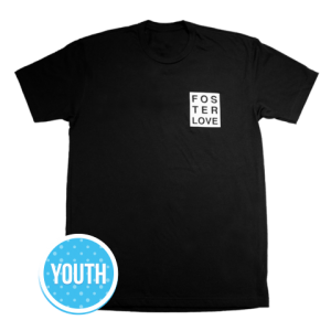 Foster Love™ - Boxed Crew, Youth T-Shirt Black
