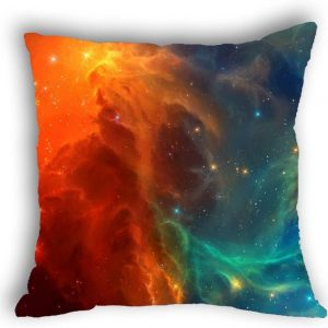 Anlye Galaxy Pillowcase red and Blue Solar Wind pillowcover Cheap Unique Design Euro Pillow Covers