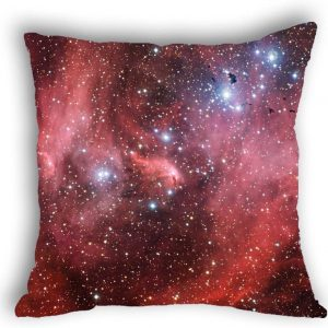Anlye Galaxy Pillowcase red Solar Wind Pillow Cover Flashing Star Cushions case for Home decor