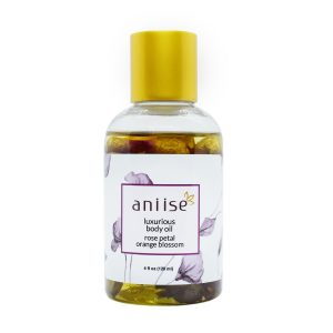 Luxurious Body Oil with Rose Petal, Orange Blossom, and Argan Oil