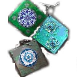 Foil Medallions Ornaments (from kit)