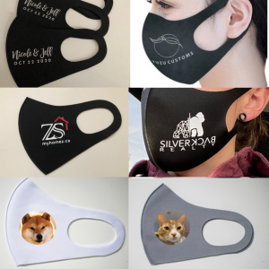 Custom Face Masks - Your Own Design, Picture or Logo Print-On-Demand - Personalized Reusable Mouth Cover