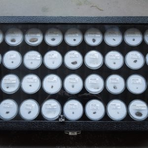 Meteorite Collection, 36 Different Labeled Specimens with Display Case