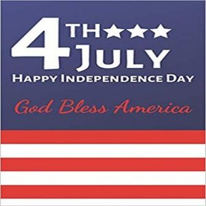 4th July Happy Independence Day God Bless America: American Eagle & Flag Journal