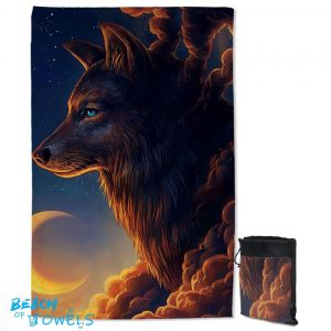 Guardian Wolf Quick Dry Beach Towel