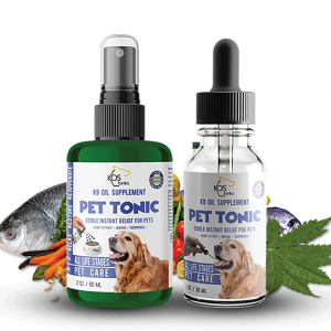 Wild Caught Salmon Fish Oil Based Supplement For Dogs - Spray or Dropper
