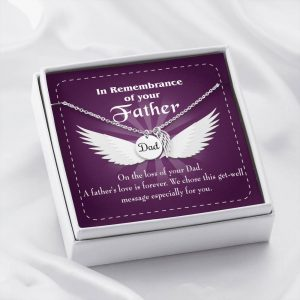 A Father's Love is Forever Loss of a Dad Sympathy Gifts Loss of a Parent Remembrance Necklace Memorial Necklace