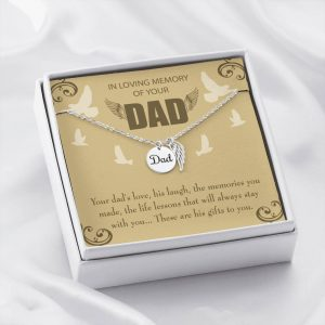 A Dad's Love Loss of a Dad Sympathy Gifts Loss of a Parent Remembrance Necklace Memorial Necklace