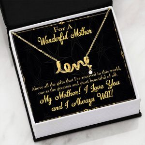 Above All Gifts Meaningful Mom Gift Scripted Necklace Stainless Steel